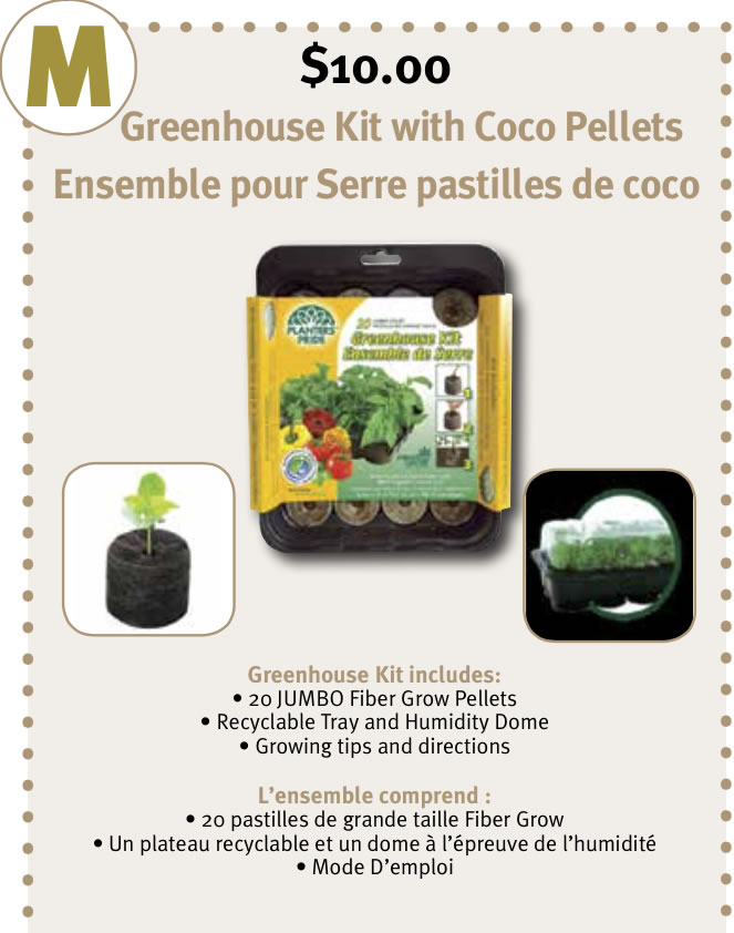 Greenhouse kit with Coco Pellets